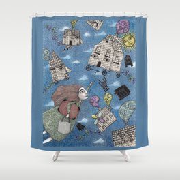 Moving Day Shower Curtain