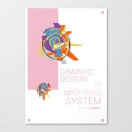 Graphic Design Canvas Print