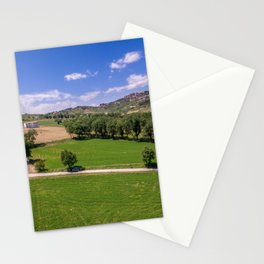 Green Fields of Abruzzo Stationery Cards