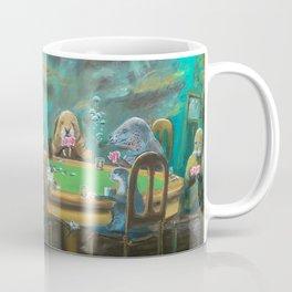 Pinnipeds Playing Poker Coffee Mug