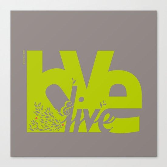 Love & Live (leaves 2) Canvas Print