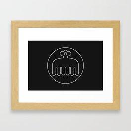 Imagawa Clan · White Mon · Outlined Framed Art Print