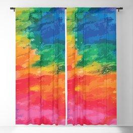 PRIDE: Rainbow Tear Blackout Curtain