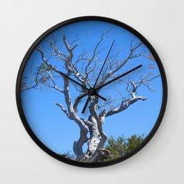 tree, naked, no bark, road trip,  Wall Clock