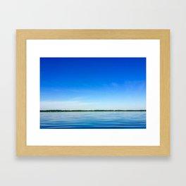 Day on the lake Framed Art Print
