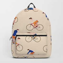 Bike Pattern Backpack