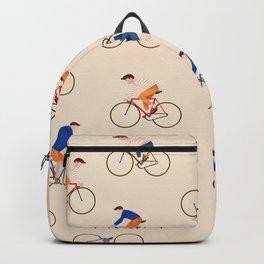 Bike Pattern Backpack