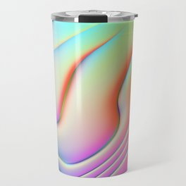 Holographic Abstract Waves - Bangerz Travel Mug