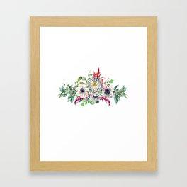 Gentille set 13 watercolor handpainted clipart, floral, flower, design, stylish, wedding, invitation Framed Art Print