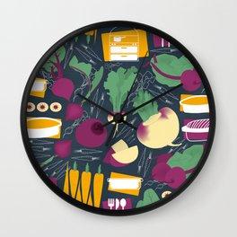 Root Vegetables Wall Clock