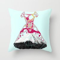blossom Throw Pillows featuring BLOSSOM by Ceren Kilic