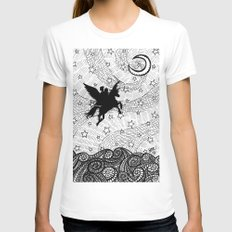 Flight of the alicorn White Womens Fitted Tee SMALL