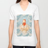 summer V-neck T-shirts featuring Sailor by Seaside Spirit