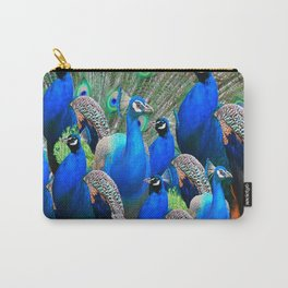 FLOCK OF BLUE PEACOCKS Carry-All Pouch