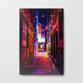 Neon Alley Metal Print