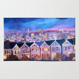 San Francisco - Painted Ladies - Alamo Sq Rug