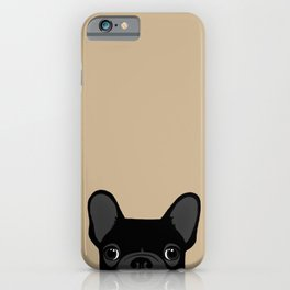 French Bulldog - Black on Tan iPhone Case