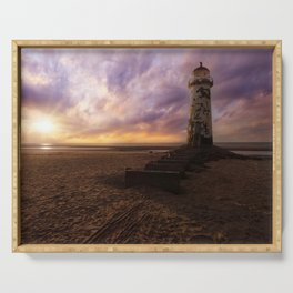 Sunset at the Lighthouse Serving Tray