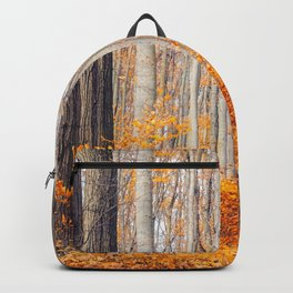 orange autumn Backpack