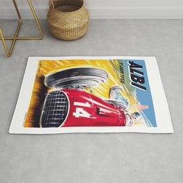 1952 Albi Grand Prix Automobile Race Poster Rug