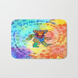 May the Four Winds Blow You Safely Home Bath Mat