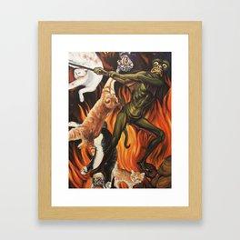 Hell O'Kitty Framed Art Print