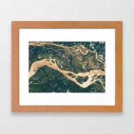 Parana River Argentina Aerial Photography Framed Art Print