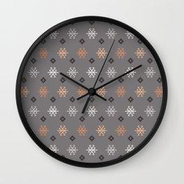 Boho Baby // Middle Eastern Metallic // Scorpion Symbol + Geometric Floral in Charcoal Wall Clock