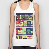 cigarette Tank Tops featuring cigarette collection by gzm_guvenc