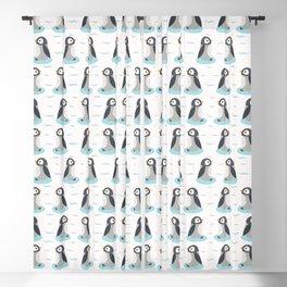 Cute cartoon penguin chicks vector illustration Blackout Curtain