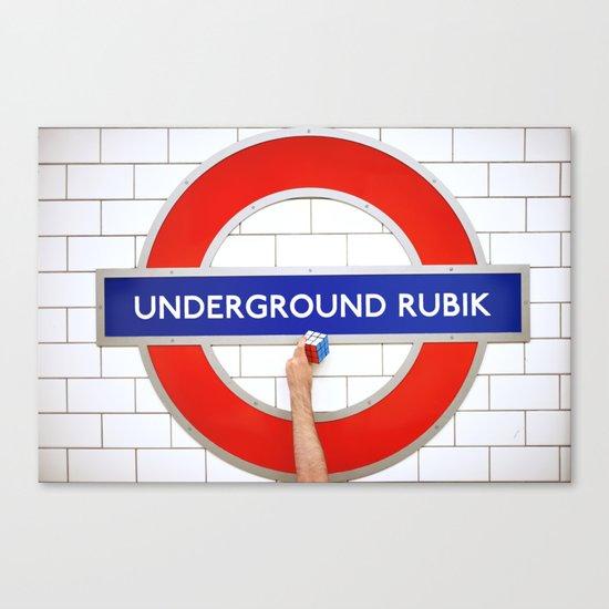 Underground Rubik Canvas Print