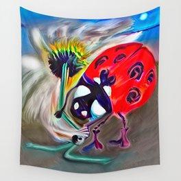Ladybug&flower Wall Tapestry