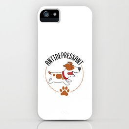 Jack Russell Terrier Antidepressant Cute Happy Dog  iPhone Case