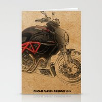 ducati Stationery Cards featuring Ducati Diavel Carbon 2015 by Larsson Stevensem