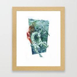 Down, Down, Down Framed Art Print