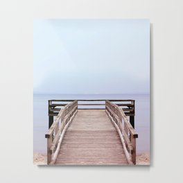 Beach Print, Ocean Pier, Coastal, Beach House Decor, Wall Art, Ocean Print, Coastal Wall Art, Beach Poster, Summer Home Decor, Beach Print Metal Print