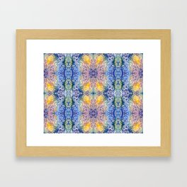 Colorful Crystal Framed Art Print