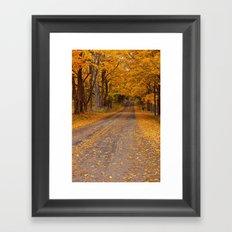Fall Rural Country Road No 133 Framed Art Print