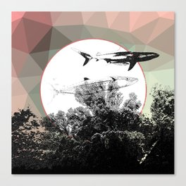 Underwater Abstract Fishes Design Canvas Print