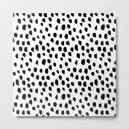 Hand drawn drops and dots on white - Mix & Match with Simplicty of life Metal Print