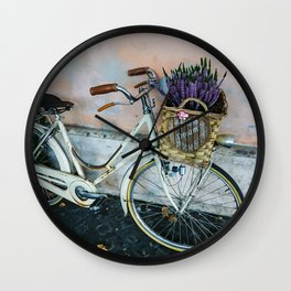 Sognare: Dream BIG Lavender Bicycle Wall Clock