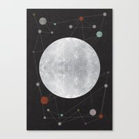 the moon Canvas Prints featuring Moon by FLATOWL