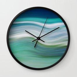 OCEAN ABSTRACT Wall Clock