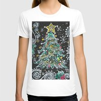 christmas tree T-shirts featuring Christmas Tree by Teri Newberry