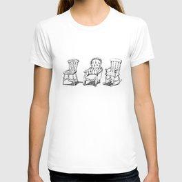 Antique chairs print T-shirt