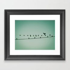 Life on the wire Framed Art Print