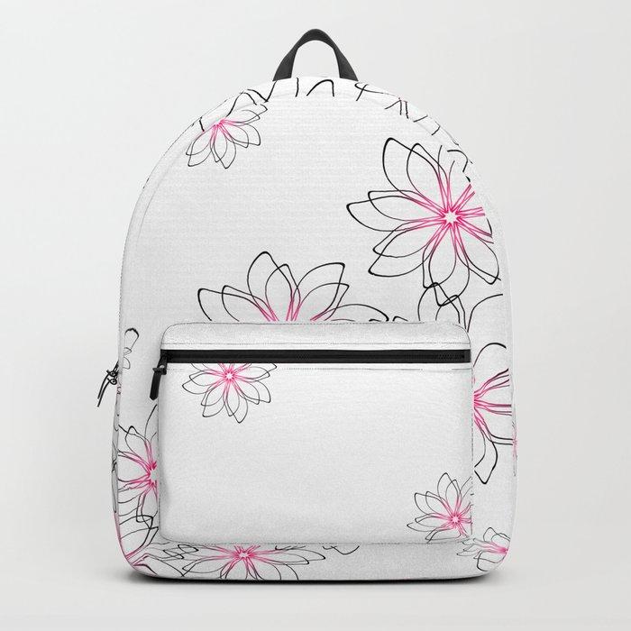 Cute floral pattern. Backpack