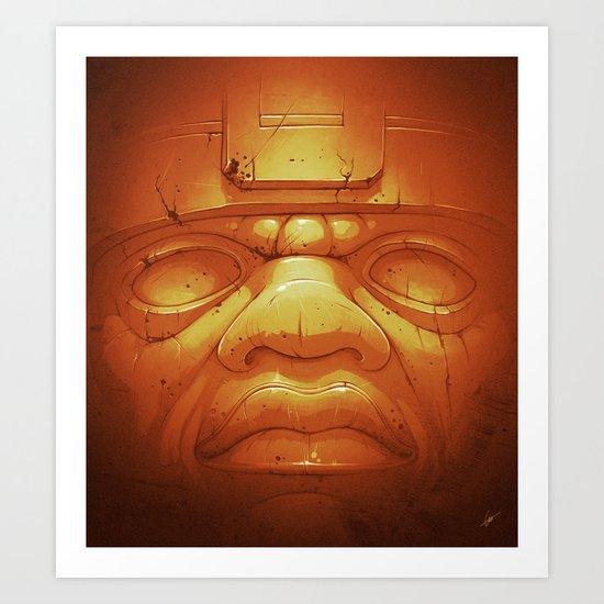 Olmeca II. (Gold) Art Print