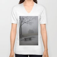 fog V-neck T-shirts featuring Fog  by ShannPhoto15