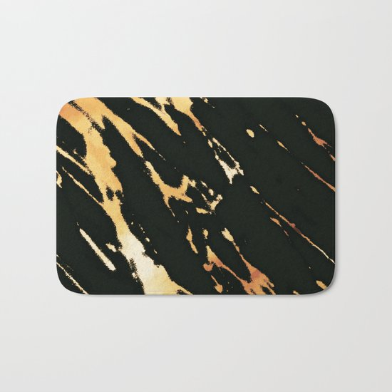Black Copper Bronze Marble Bath Mat